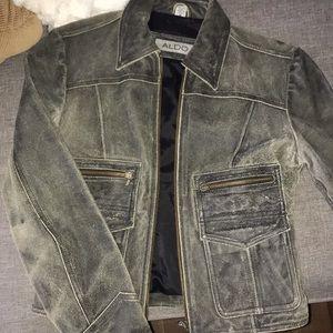 Aldo real leather jacket